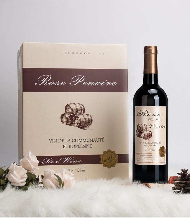 13°法国红皮诺典藏干红葡萄酒750ml