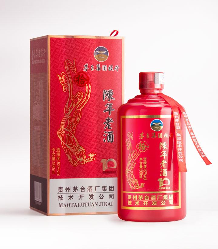 52°茅台技开陈年老酒10年(手工盒)500ml