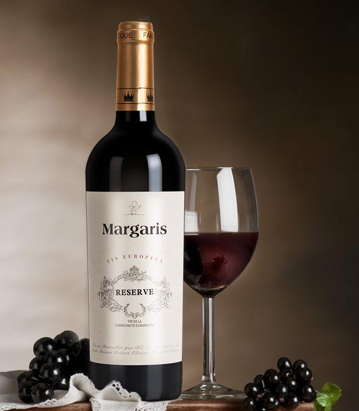 14°法国玛格丽思干红葡萄酒750ml