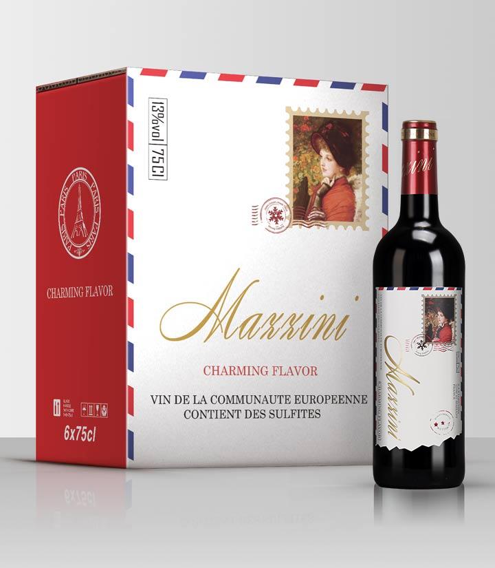 13°法国马智尼干红葡萄酒750ml